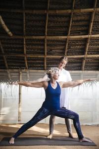 Individual yoga at Vaidyas Ayurveda Village